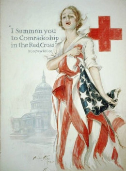 An old Red Cross Ad from 1918, from the time of World War I.