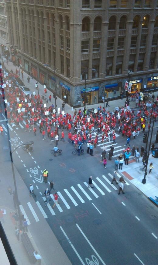 Chicago Teachers Union Strikes! Sept 10 2012