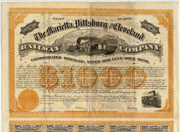 When bonds were first sold, people had to cut off a part of the bond, called a coupon, and take it to the bank in order to receive the interest on the bond.  These coupons are on the bottom of this certificate.