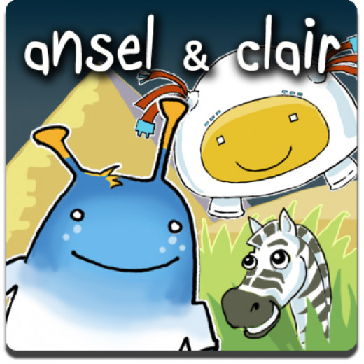 Ansel and Clair for the iPhone, iPad and iPod Touch teaches geography, history and science