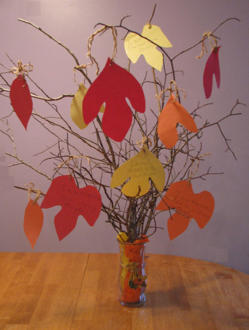Thanksgiving Tree Centerpiece.