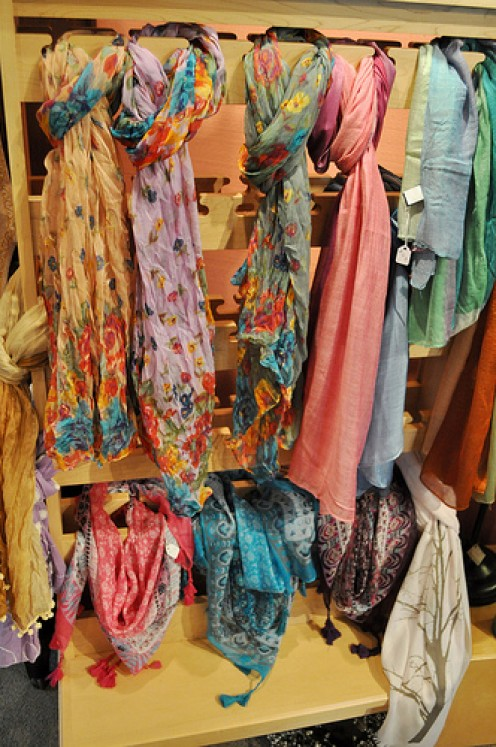 Here's a collection of beautiful summer scarves for teens.