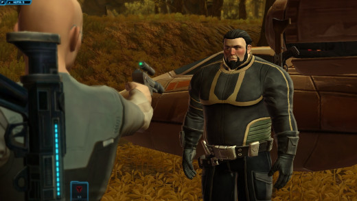 They're all good. But, the Imperial Agent is my favourite. Here he is, about to shoot someone.