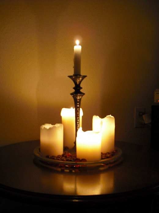 Candles are excellent for space cleaning with feng shui.