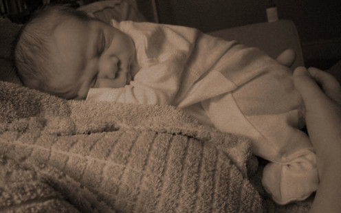 Sleeping.