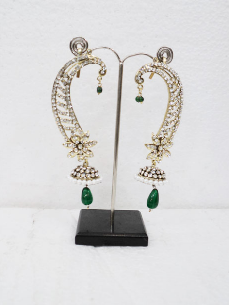 White Stone Studded Rajwada Earring