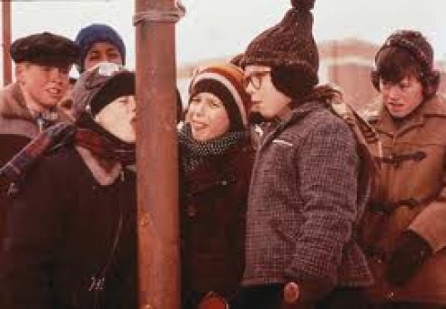 A Christmas Story is a holiday classic about a boys youthful adventures. The boy, Ralph, narrates this Christmas comedy.