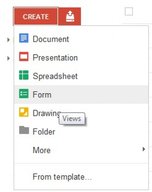 How to create new form in Google Drive
