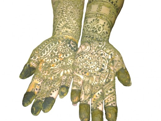 Heena applied hands