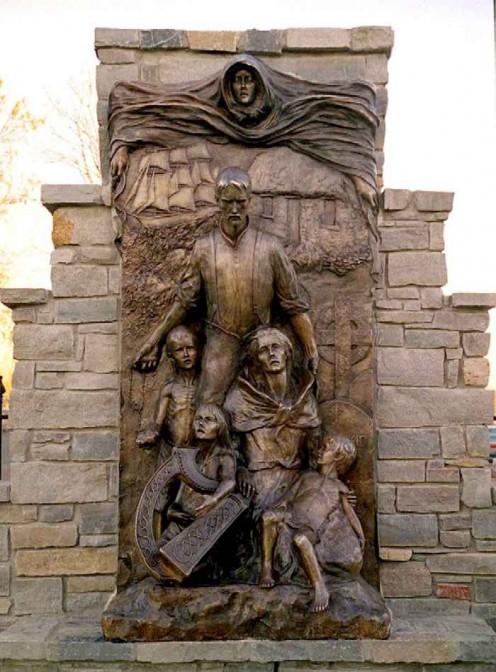 Memorial to the Irish Potato Famine