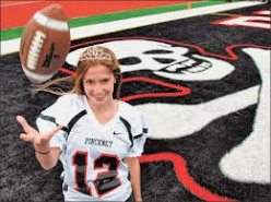A girl quarterback: A goal for me to see achieved.