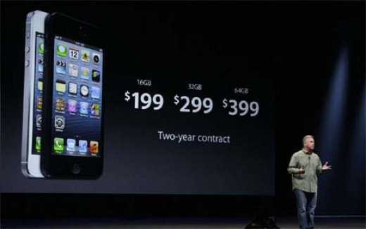 iPhone 5, 16GB, 32GB & 64GB Available.