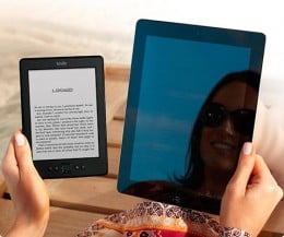 There is no glare with a standard Kindle. It is exactly like reading a paper book.