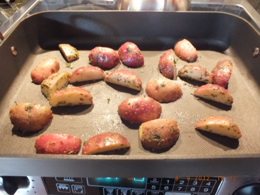 Place in the pre-heated roasting pan