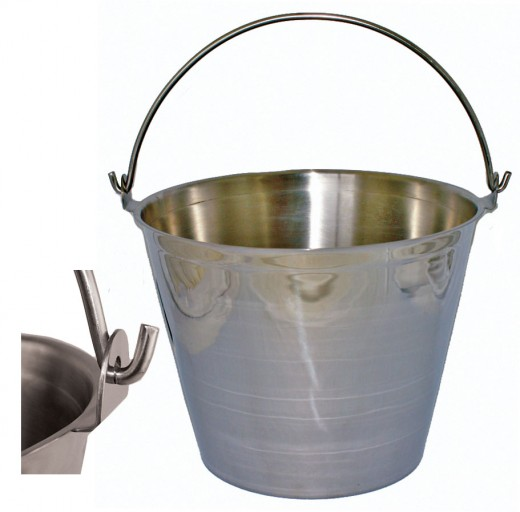 Seamless Stainless Steel Milk Pail