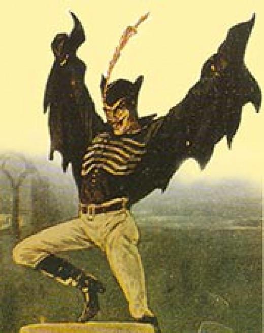 Artist depiction of Spring-heeled Jack
