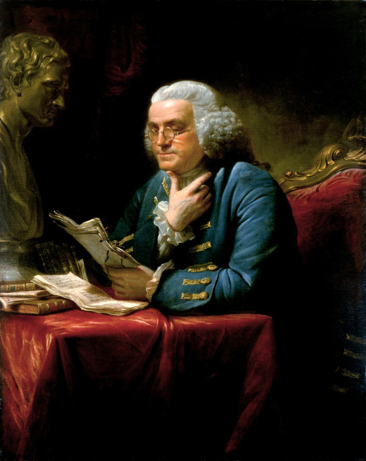 Benjamin Franklin By English: David Martin (1737-1797) (The White House Historical Association) [Public domain], via Wikimedia Commons