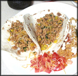 Low Fat Turkey Soft Tacos; a healthy and delicious alternative to greasy ground beef!