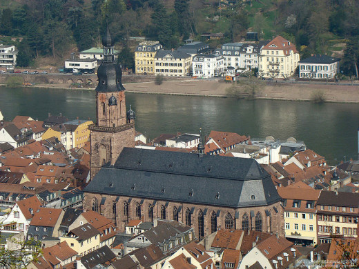 Church of the Holy Spirit on Old Town Heidelberg, Germany