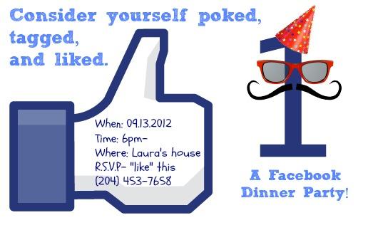 Facebook dinner invitation
