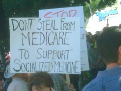 I wonder if anyone bothered to explain medicare IS socialized medicine...