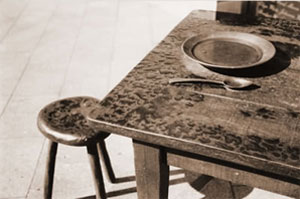 Table as part of the Irish Famine Memorial