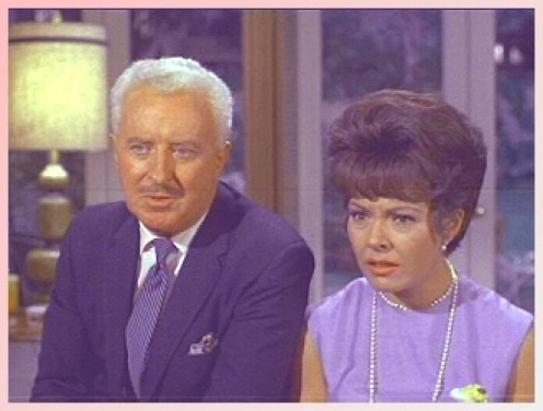 "DAVID WHITE, left, was ""Larry Tate,"" and Kasey Rogers, was the second ""Louise."" I only put her photo on here again because she was so gorgeous."