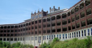 A back view of the old,yet beautiful building of Waverly Hills Sanatorium.