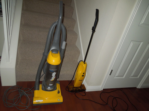 Eureka Bagless Upright Vacuum Cleaner and Boss Bagless Superbloom