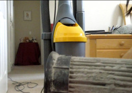 A Dirty Filter of  an Eureka Bagless Upright vacuum