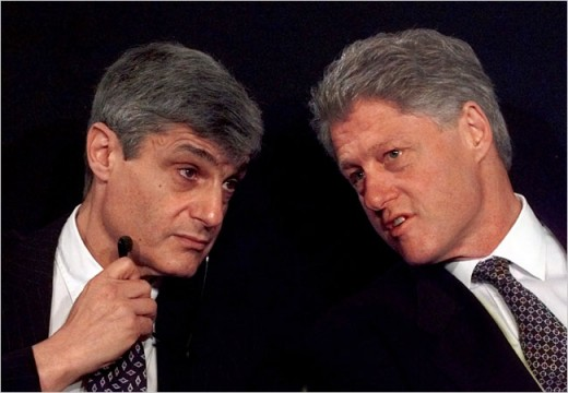 Secretary Rubin and President Clinton