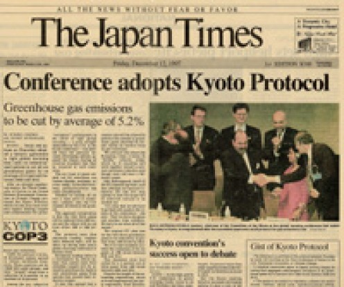 Japan signs Kyoto protocol