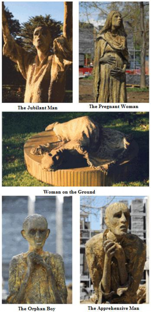Sculptures at Ireland Park, Toronto.