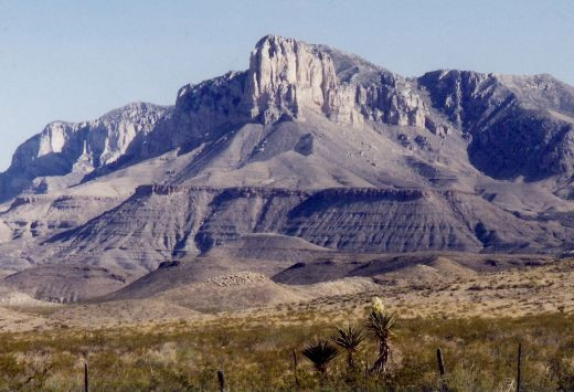 Approaching the Guadalupe Mountains National Park