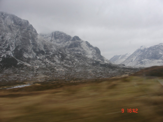 Glen Coe can look even more impressive when covered in snow and shrouded in mist.