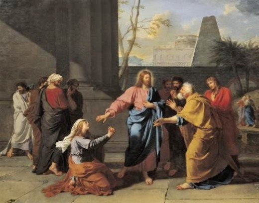 Christ and the Canaanite Woman / by Germain-Jean Drouais