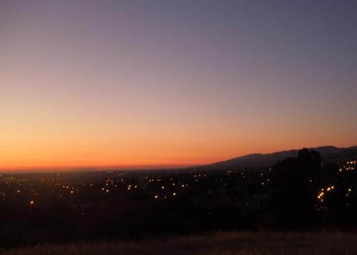 Sunset in Montgomery Hill Park San Jose CA
