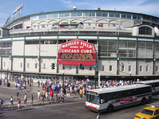 Wrigley Field at Clark and Addison Streets opened in 1914, and has been home to the Cubs since 1916.