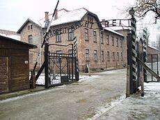"The infamous Auschwitz Entrance: ""Arbeit macht Frei"""