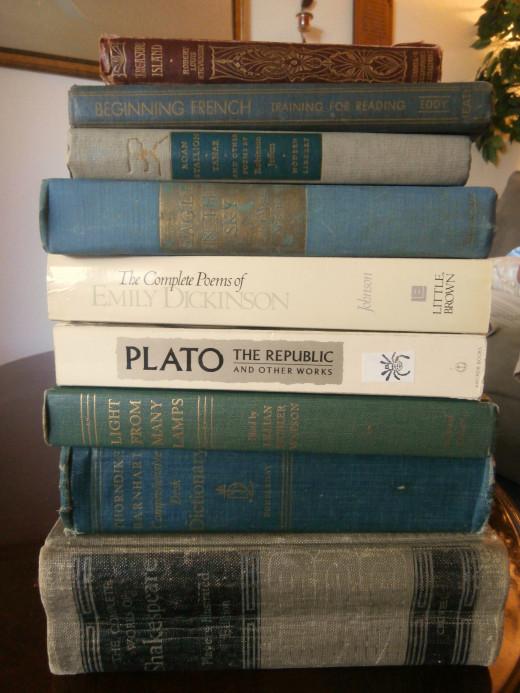 Hard cover books were $1.00 each!