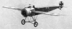 WWI: Fokker Eindecker III with synchronized machine gun. 1916.