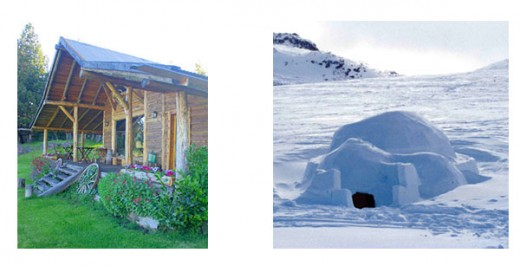 2. A traditional House in Argentina * 3. An Igloo, Traditional house of Eskimos.*