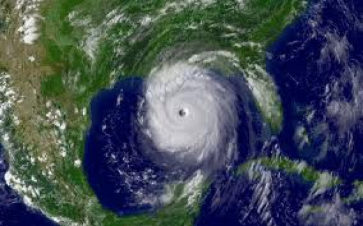 Hurricane Katrina on its way to New Orleans.