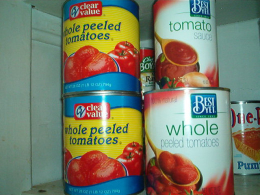Use canned tomatoes for marinara sauce, and in stews and chili.