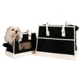New York Dog Charlotte Black and White Pet Carrier Airline Approved