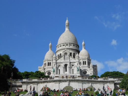 Le Sacre Couer in Montmatre Paris