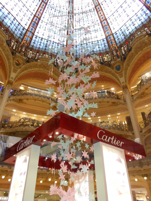 Interior of Gallery Lafayette, shopping hall, Paris