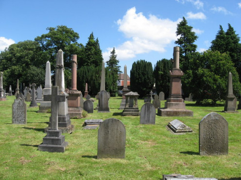 A view of Cathay Cemetery, Cardiff, Wales.