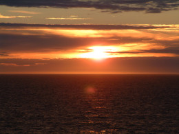 Picture taken at 22 minutes past midnight on the 3rd of July as we cruised North across the Greenland Sea
