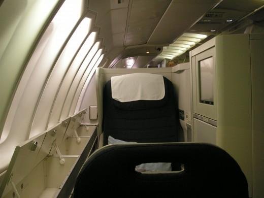 British Airways' Club World (business class) seat